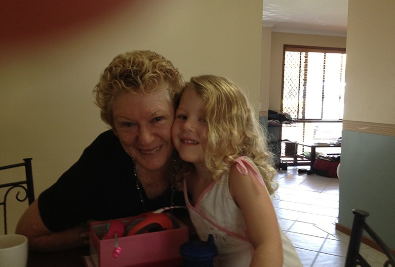 Vicki McCabe and grand daughter - uncropped